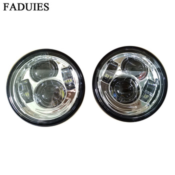 FADUIES Motorcycle Dyna Fat Bob  Style HeadLight 4.5inch single low beam and single high beam FatBob Dual Headlamp