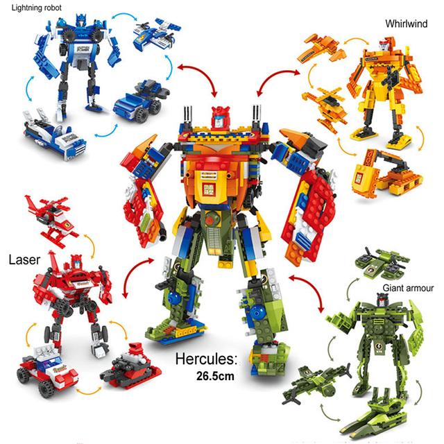 17 Shapes 4 In 1 Giant Robots New Original Movie Transformation