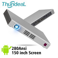 ThundeaL 280 Ansi Lumen DLP Projector Android WIFI Bluetooth Battery T5 Beamer Support 2K 4K Mini LED 3D Projector Home Theater