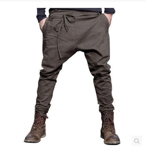 75f7d9c3c170d € 43.0 |2015 Nouveau Design Hommes Printemps Casual Entrejambe Harem  Pantalon De Mode coton Suspendus Hip Hop Entrejambe Pantalons Pleine  Longueur ...