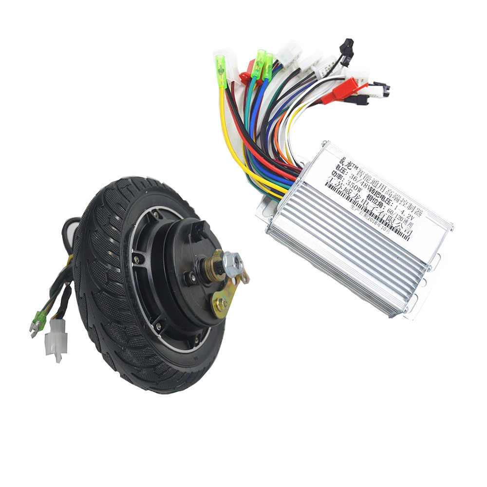 36V 48V 350W scooter motor with controller kit for electric Scooter/e-bike/xiaomi scooter 8inch electric scooter wheel