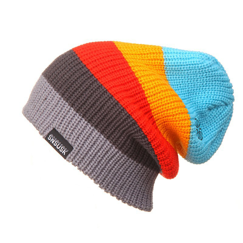 2017 New Men Women Skiing Warm Winter Hats Knitting Skating Skull Caps For Woman Turtleneck Beanies Hat Snowboard Ski Cap