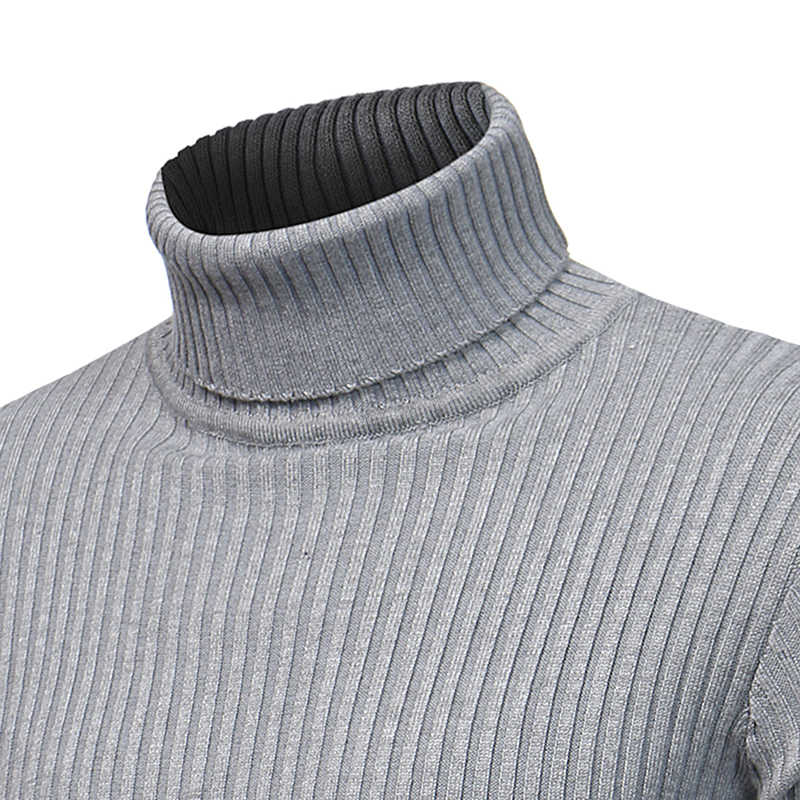 2019 새로운 겨울과 겨울 남성 패션 부티크 솔리드 캐주얼 터틀넥 스웨터 한국어 버전 남성용 터틀넥 스웨터 남성