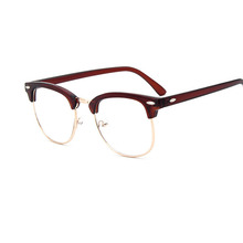 Korean version of retro spectacle frame metal flat glasses trend Baijian