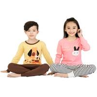 11 Styles Plus Size Full Length Fashion Combed Cotton Children Pajamas Cartoon Print Underwear Soft Long
