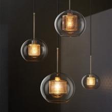 Nordic Loft Designer Industrial Pendant Light Retro Creative Concise Glass Kitchen Hanging Light Led Lights Free Shipping