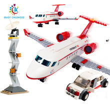 334pcs Airplane Air Bus Model Airplane DIY Building Blocks Bricks Educational Toys For Children Legoings City Birthday Gift 8911 b0366 b0365 abs 43 28cm airplane aircraft building blocks airbus city bus w 7 dolls model toys for children kids training gift