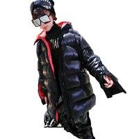 Women's Glossy Parka Winter Down Jacket Hip Hop Sleeve Zipper parka women's Black coat women's winter jacket ladies winter coats