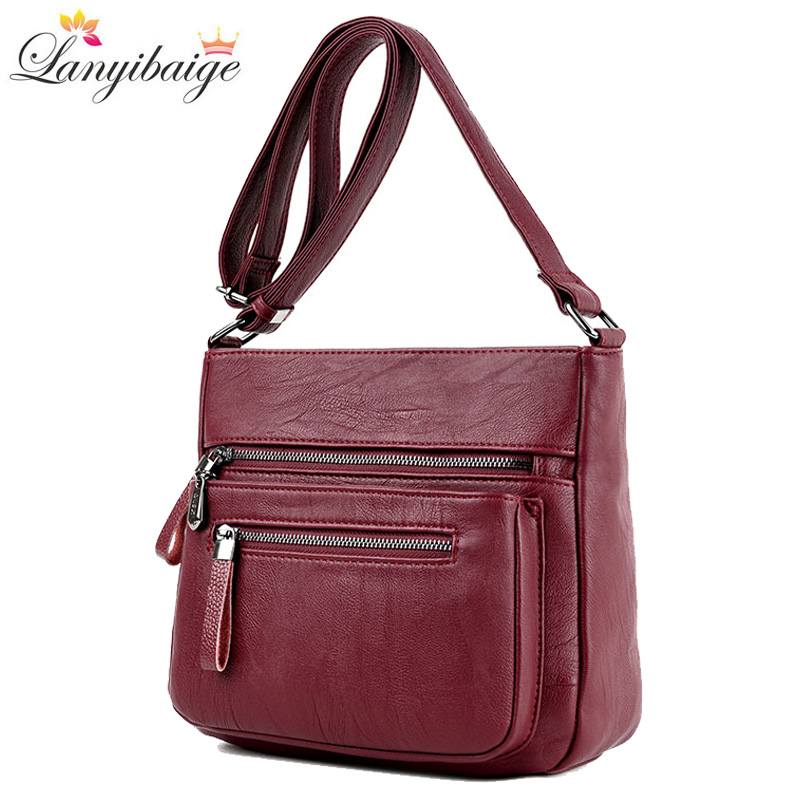 Fashion Women High Quality Leather Crossbody Bags 2018 Luxury Female Designer Shoulder Bag Leisure Tote For Lady Shoulder Bag