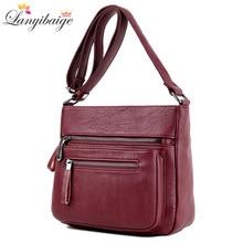 Fashion Women High Quality Leather Crossbody Bags 2018 Luxury Female D