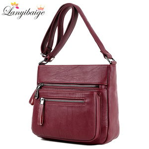 Fashion Women High Quality Leather Crossbody Bags 2018 Luxury Female Designer Shoulder Bag Leisure Tote For Lady Shoulder Bag(China)
