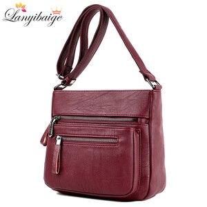 Image 1 - Mode femmes haute qualité en cuir sacs à bandoulière 2018 de luxe femme concepteur sac à bandoulière loisirs fourre tout pour dame sac à bandoulière