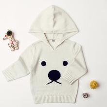 Sweter z dzianiny dla nowo narodzonego dziecka chłopcy dziewczyny odzież dla niemowląt Cartoon niedźwiedź odzież wierzchnia maluch sweter z kapturem tanie tanio Dla dzieci Akrylowe Poliester Nowość Dziecko dziewczyny Pełna Brak Łuk REGULAR G52166 Pasuje prawda na wymiar weź swój normalny rozmiar