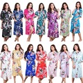 Brand New Long Robe Satin Rayon Bathrobe For Women Kimono Sleepwear Peacock Plus Size S-XXL Nightwear Bridesmaid Bathrobes Hot