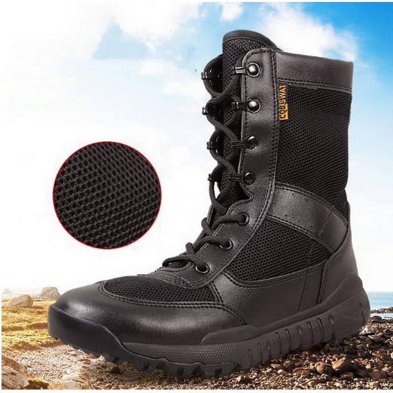 270322 Army Men s Military Outdoor Desert Combat Tactic Mid calf font b Boots b font