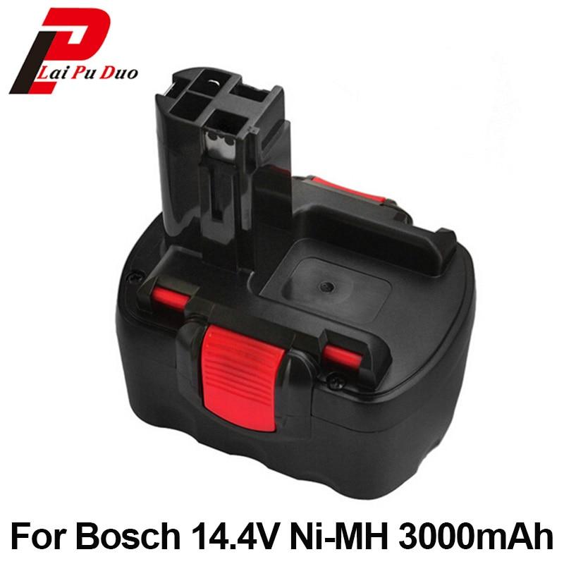 Ni-MH 14.4v 3.0Ah Power Tool Battery Replacement For Bosch 3454-01 PSR 1-14 BAT038 2 607 335 264 3660CK PAG14.4V replacement power tool battery charger for bosch 7 2v gsr9 6 12v 14 4v ni mh ni cd al1411dv gsr7 2 2 gsr9 6 2 gsr12 2 gsb12 2