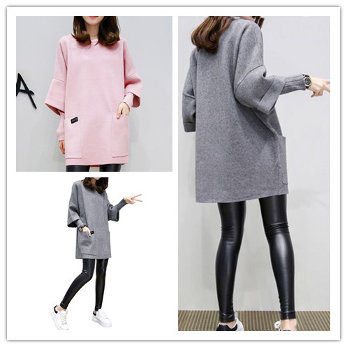Thin Hoodies For Women Spring Autumn Casual Three Quarter Sleeve O Neck Female Sweatshirts Pullovers 2 Colors