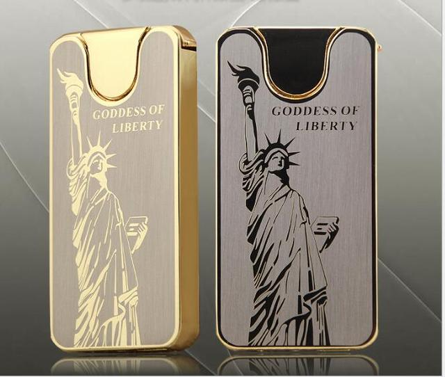 Cheap Shake Double Sided Ultra Thin Windproof Lighters Statue Of
