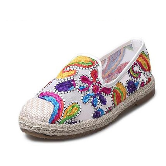 New Women's Espadrilles Slip-On Boat Flat Flats Fisherman Weave Casual Glitter Loafers Oxford Shoes Ladies Casual Shoes women and men s casual flat shoes loafers fisherman espadrilles boat shoes men lazy hemp rope weave shoes size 35 45