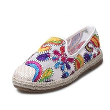 New Women's Espadrilles Slip-On Boat Flat Flats Fisherman Weave Casual Glitter Loafers Oxford Shoes Ladies Casual Shoes