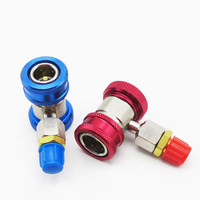 1 Pair Ar Auto Freon R134A AC Air Condition Adjustable Quick Coupler Refrigerant High Low Adapter