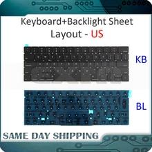Клавиатура A1706 для ноутбука Macbook Pro Retina 13 дюймов, английская/Американская, с подсветкой