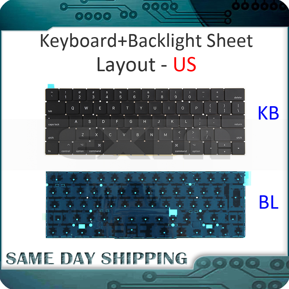 New Laptop A1706 US Keyboard for Macbook Pro Retina 13 A1706 Keyboard US USA English with Backlight 2016 2017 Year