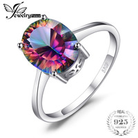 2014 Brand New Hot Sale 2 5ct Genuine Rainbow Fire Mystic Topaz Concave Oval Ring For