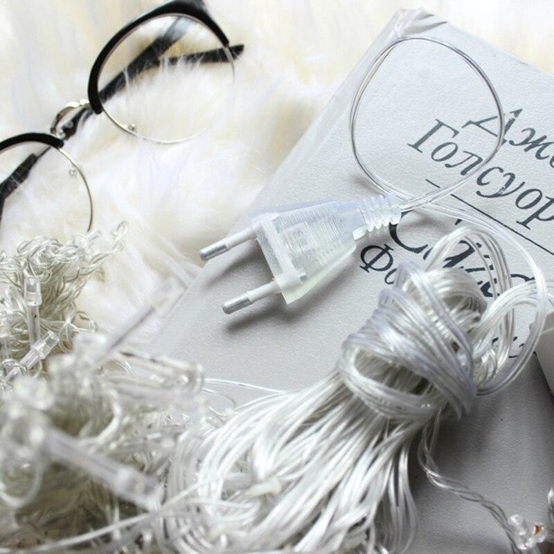 6 M X 3 M 600 LED Kerst Xmas String Fairy Bruiloft Icicle Gordijn - Vakantie verlichting - Foto 4