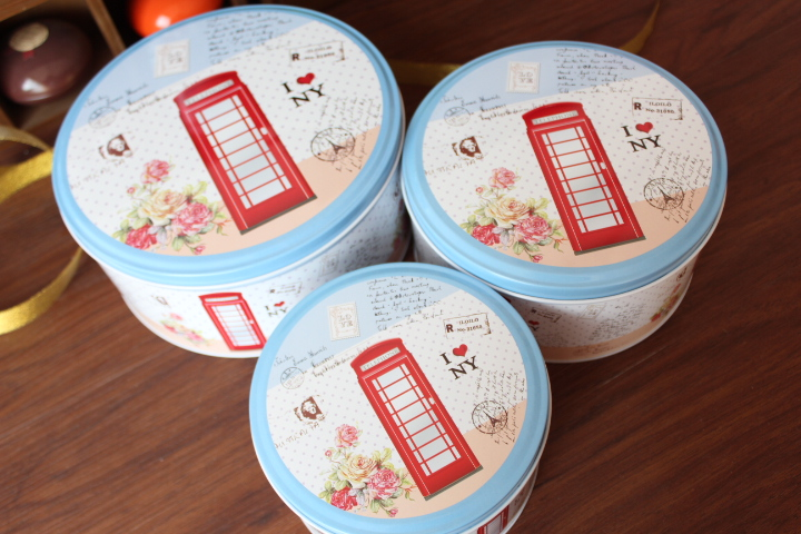Flowers booth pattern handmade cookies baking box confectionery container, 3 different size in 1 lot , easy packing home Storage