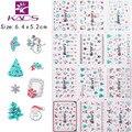 Горячий серебряный 3D nail наклейки Рождественская елка Дед мороз наклейки зимний minx ногтей фольга TJ049-060