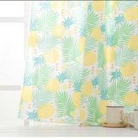 Cotton and linen home curtain cushion tablecloth handmade diy fabric tropical Hawaiian yellow pineapple flower