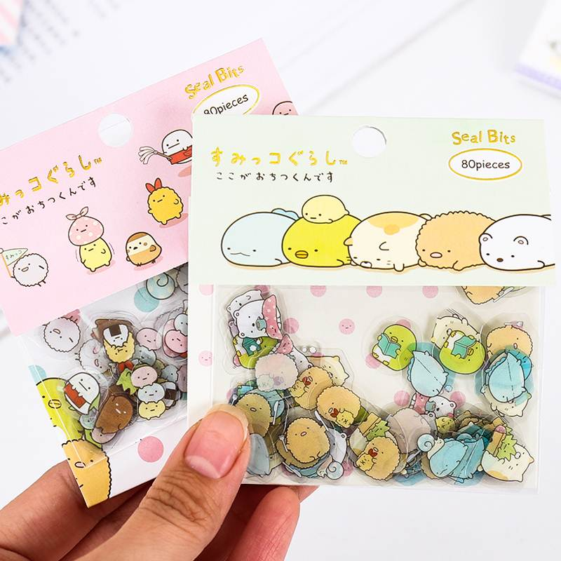 Cute Kawaii Transparent PVC Sticker Lovely Animals Decorative Adhesive Stickers For Korean Stationery Stickers