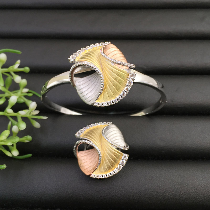 Image 2 - Lanyika Jewelry Graceful  Artistical Set Abstract Geometric 