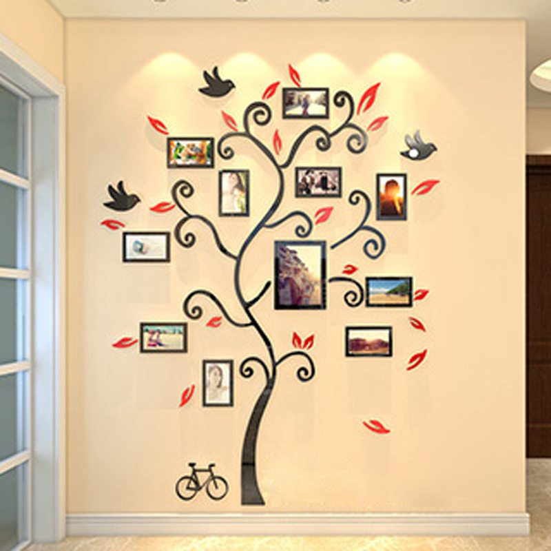 Happiness Tree Design Acrylic Wall Stickers DIY Sticker Living Room ...