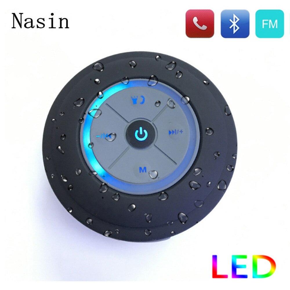 Nasin Tragbare Subwoofer Dusche Wasserdicht Wireless Bluetooth Lautsprecher Auto Freisprecheinrichtung Musik Saug Mic Für IOS Android Telefon