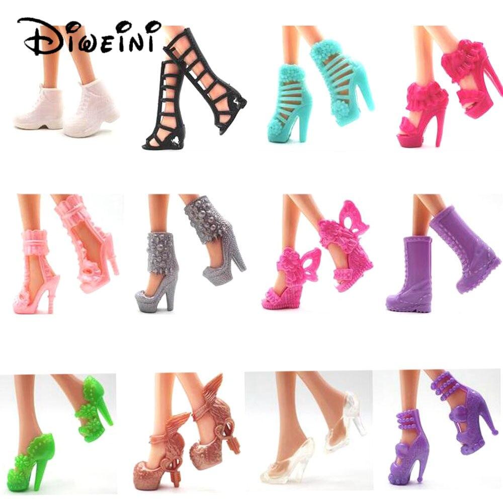 Diweini 12 шт. Обувь для Барби Куклы Игрушечные лошадки кукла Интимные аксессуары Игрушки для маленьких детей подарок для девочек Принцесса Сказка Обувь