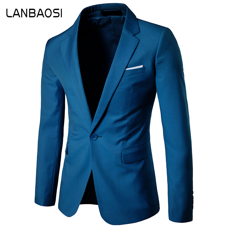 Lanbaosi رجل السترة سترة الصلبة يتأهل - ملابس رجالية