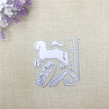 Julyarts 9Pcs Whirligig Horse Dies Metal Cutting 2019 New Die for Scrapbooking Diy Card Making Crafts Cut Stitch