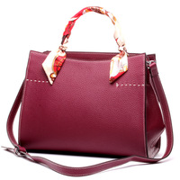 Famous Brand Genuine Leather Bags For Women Durable Tote Bags Ladies Business Handbag Ribbons Shoulder Bag