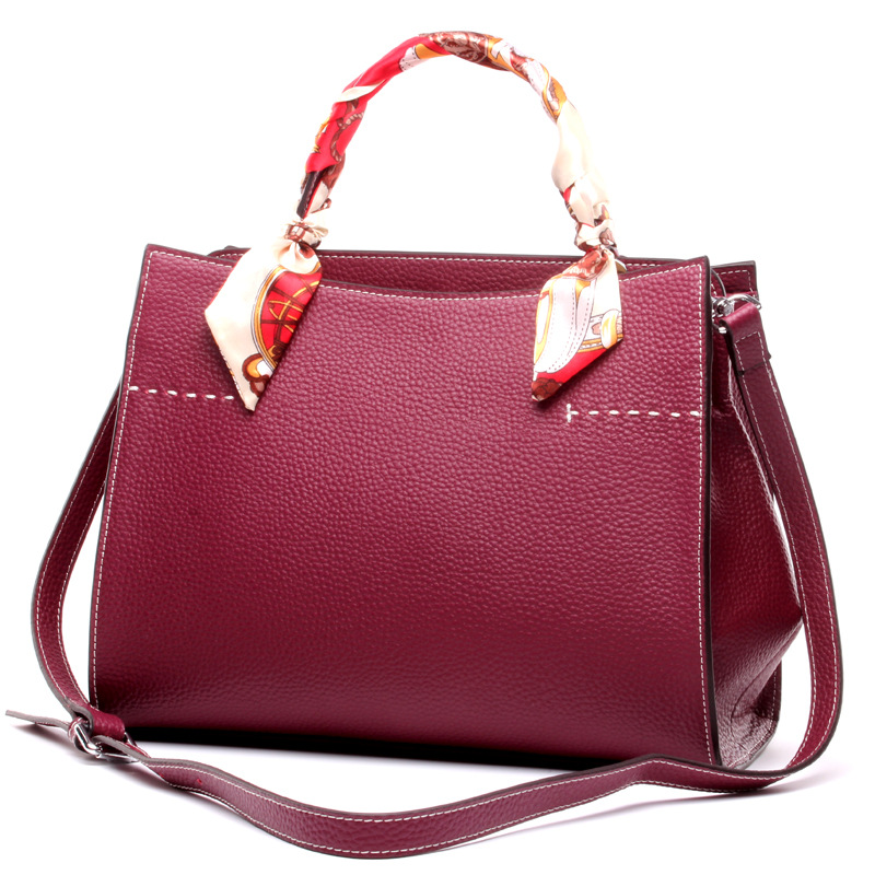 Famous Brand Genuine Leather Bags for Women Durable Tote Bags Ladies Business Handbag Ribbons Shoulder Bag High Quality Hand Bag high quality women genuine leather tote handbag famous designer brand messenger bags for ladies casual crossbody shoulder bag