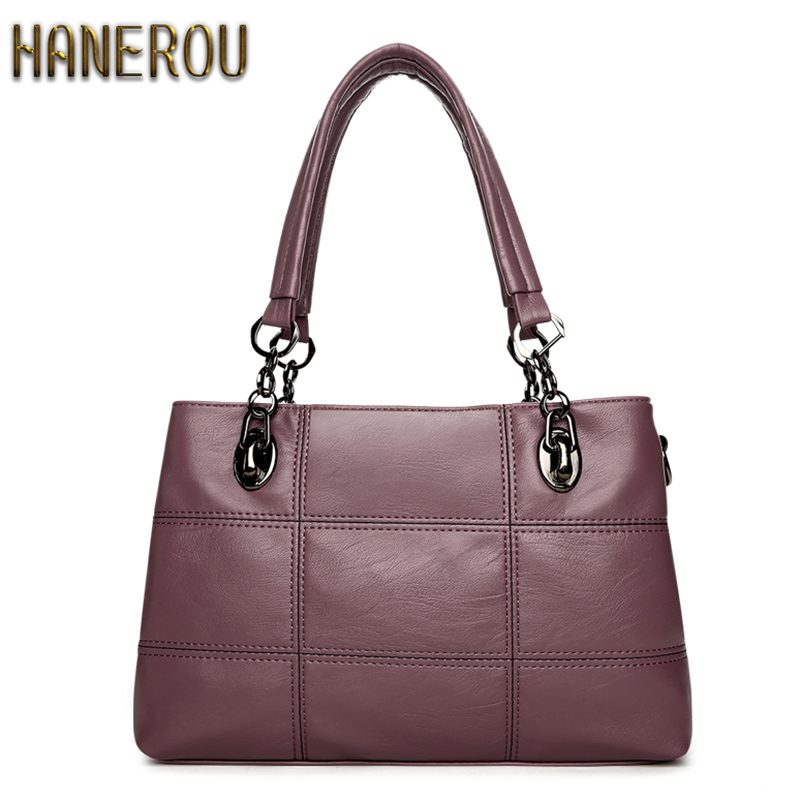 Autumn Fashion Women Bag Luxury Brand 2018 PU Leather Shoulder Bags Large Ladies Bags Brands Designer Handbags High Quality Sacs цена