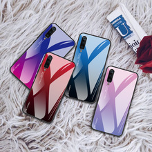 Gradient Tempered Glass Case For Xiaomi Redmi 5 6 7 plus xiaomi redmi note pro Colorful Phone Cases Cover for
