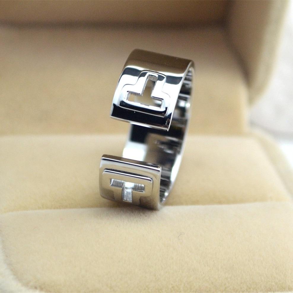 Hollow two T Ring Brand Engagement Handmade Rings For Women, Brand Finger Anel Wedding rings ringen voor vrouwen high quality