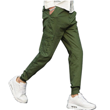 2017 New Style Spring Summer Mens Pants Slim Fit Solid Army Green Camel Blue Casual Trousers For Big Man Pencils Pants Plus Size
