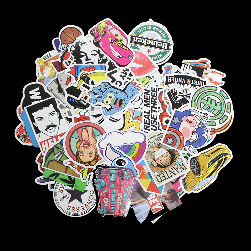 100Pcs Unique Styling Pvc Waterproof Sexy Beauty Girls Stickers For Laptop Motorcycle Skateboard Luggage Decal Toy Sticker
