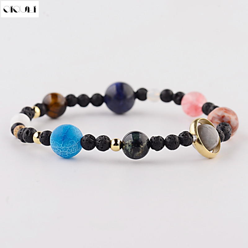 Strand Bracelets Enthusiastic Oiquei Universe Energy Yoga Bracelet For Women Men Natural Solar System Planets Beads Charm Bangles &bracelets Jewelry Hommes To Make One Feel At Ease And Energetic
