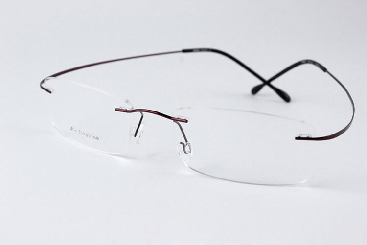 Sin montura gafas De lectura mujer hombre De titanio De memoria ...