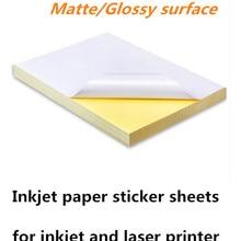 Самоклеящаяся бумага для печати пустая клейкая бумага A4 глянцевая матовая резка этикетка Лазерная струйная печать наклейка