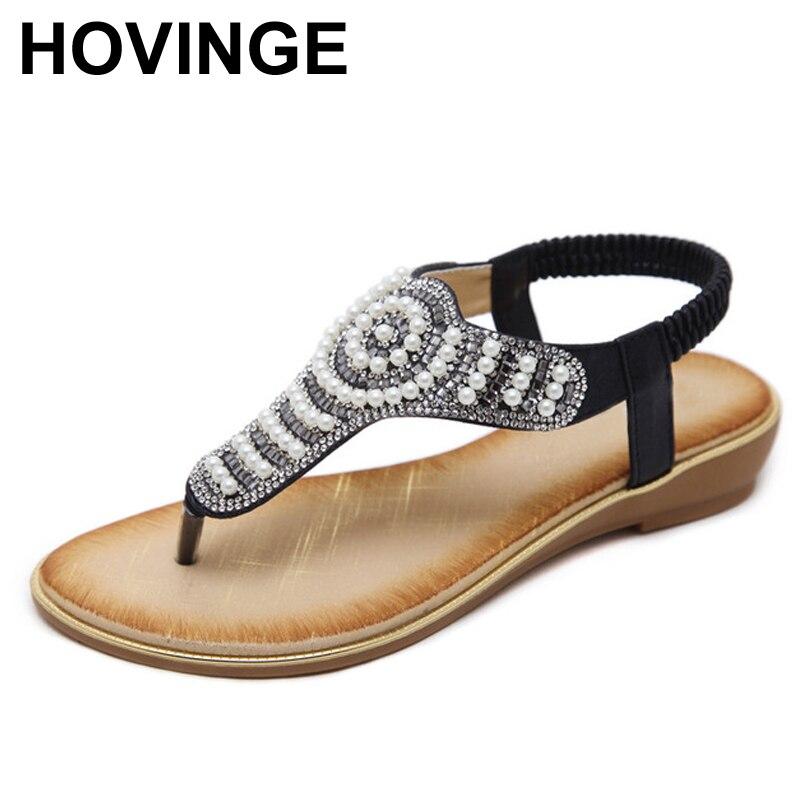 9ddeb1167957f Rhinestone oro Estilo Sandalias chocolate Playa Moda Occidental Cuentas  Zapatos Casual Lujo B Nuevo Negro De Hovinge Mujer Verano aqAvvW